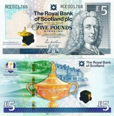 Scotland 5 Pounds Sterling Banknote, 2014, P-369a
