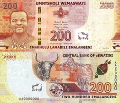 Swaziland 200 Emalangeni Banknote, 2018, P-44s