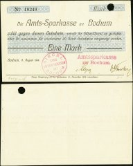 Germany/Notgeld 1 Mark Banknote, 1914, P-Die:039.1a