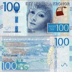 Sweden 100 Kronor Banknote, 2015, P-71b