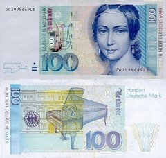 Germany/Federal Republic 100 Deutsche Mark Banknote, 1996, P-46a