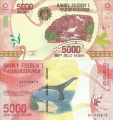 Madagascar 5,000 Ariary Banknote, 2017, P-102a