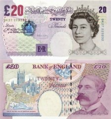 Great Britain/England 20 Pounds Banknote, 2004, P-390b
