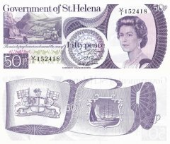 St. Helena 50 Pence Banknote, 1979, P-5a