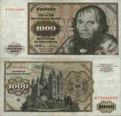 Germany/Federal Republic 1,000 Deutsche Mark Banknote, 1960, P-24a
