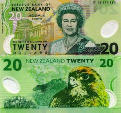 New Zealand 20 Dollars Banknote, 2006, P-187b.3