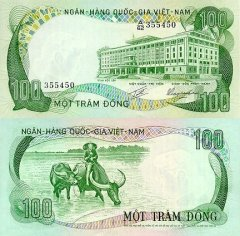 100 Dong Vietnam/South's Banknote
