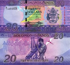 Solomon Islands 20 Dollars Banknote, 2017, P-34