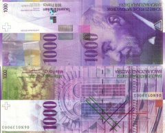 Switzerland 1,000 Francs Banknote, 2006, P-74c.2