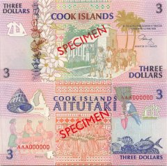 Cook Islands 3 Dollars Banknote, 1992, P-7s
