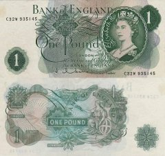Great Britain/England 1 Pound Banknote, 1962, P-374d