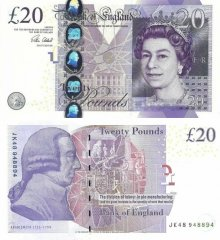 Great Britain/England 20 Pounds Banknote, 2015, P-392c