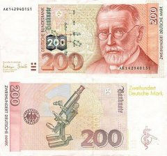 Germany/Federal Republic 200 Deutsche Mark Banknote, 1996, P-47a