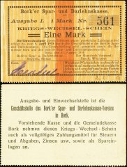 Germany/Notgeld 1 Mark Banknote, 1914, P-Die:042.1b