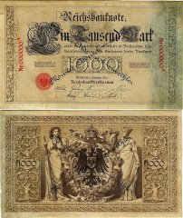 Germany 1,000 Mark Banknote, 1891, P-14