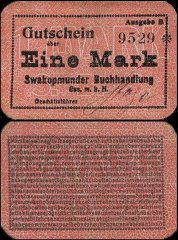 1 Mark German South West Africa's Banknote