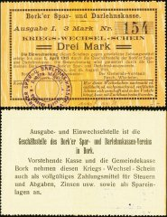 Germany/Notgeld 3 Mark Banknote, 1914, P-Die:042.1d