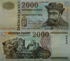 Hungary 2,000 Forint Banknote, 2013, P-198e
