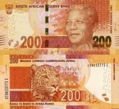 South Africa 200 Rand Banknote, 2014, P-142a
