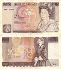 Great Britain/England 10 Pounds Banknote, 1984, P-379c