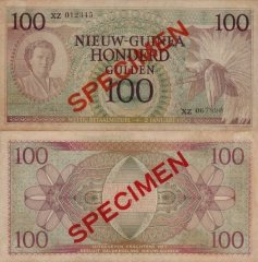 100 Gulden Netherlands New Guinea's Banknote