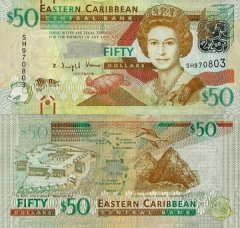 East Caribbean States 50 Dollars Banknote, 2012, P-54a