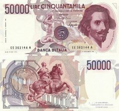 50,000 Lire Italy's Banknote