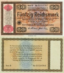 50 Reichsmark Germany's Banknote
