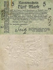 5 Mark German South West Africa's Banknote