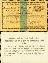Germany/Notgeld 2 Mark Banknote, 1914, P-Die:042.1c