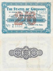Guernsey 2 Shillings 6 Pence Banknote, 1943, P-30