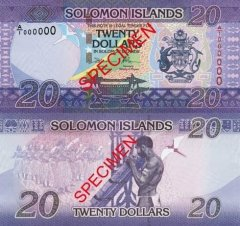 Solomon Islands 20 Dollars Banknote, 2017, P-34s