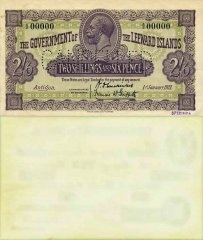 2 Shillings 6 Pence Leeward Islands's Banknote