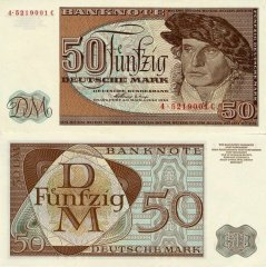 Germany/Federal Republic 50 Deutsche Mark Banknote, 1963, P-29 H