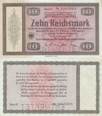 10 Reichsmark Germany's Banknote