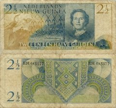 2 1/2 Gulden Netherlands New Guinea's Banknote