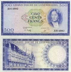 500 Francs Luxembourg's Banknote