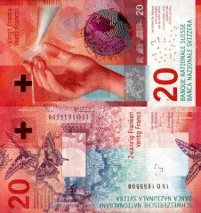 Switzerland 20 Francs Banknote, 2015, P-76a
