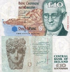 10 Pounds Ireland/Republic's Banknote
