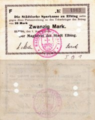 Germany/Notgeld 20 Mark Banknote, 1914, P-Die:091.5a