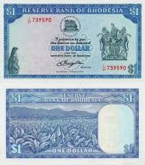 1 Dollar Rhodesia's Banknote