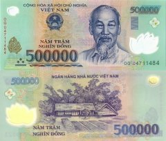 500,000 Dong Vietnam's Banknote