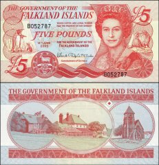 Falkland Islands 5 Pounds Banknote, 2005, P-17a