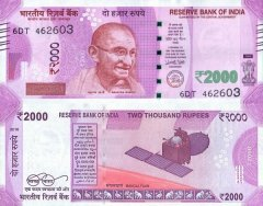2,000 Rupees India's Banknote