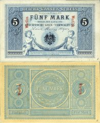Germany 5 Mark Banknote, 1874, P-1