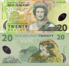 New Zealand 20 Dollars Banknote, 2014, P-187c.2