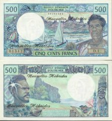 500 Francs New Hebrides's Banknote