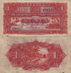 1 Dollar Straits Settlements's Banknote