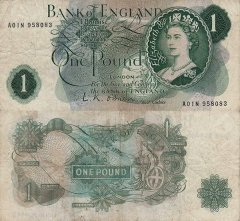Great Britain/England 1 Pound Banknote, 1960, P-374b