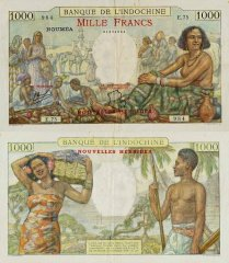 1,000 Francs New Hebrides's Banknote